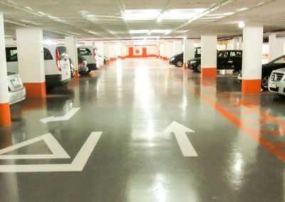 pintado-parking-saba-oporto-naranja